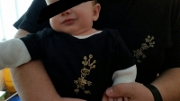 Baby Body Schwarz Größe 62/68